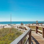 Boardwalk to the beach on the Gulf of Mexico