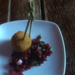 Blue cheese with beetroot