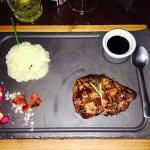Fillet steak, balsamic glaze and pomme puree