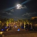 Gorgeous full moon view from main lobby bar