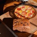 Tomato egg pie and raisin whole wheat bread, Summer Thyme breakfast fare