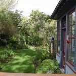 Sun porch over looks the back garden from the Garden room