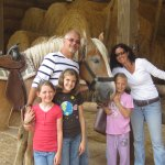 Horse Stables - Family after horse ride