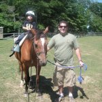 Horse Stables - Child on parent led ring ride