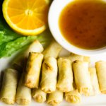 Vegan Spring Rolls with House Made Sweet Chili Sauce