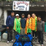 Our final day before leaving for Kathmandu--we are happy, exhausted, and a little sad!