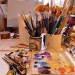 Lynda Taylor's studio space.