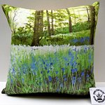 Luxurious cushions printed with Lynda Taylor designs.
