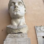 Parts of the statue of Emperor Constantine.