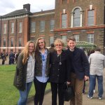 Outside Kensington Palace with Donna