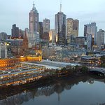 Amazing view of the Yarra River and the city from our room