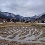 Farming land around village