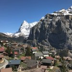 From the balcony - Room 34 overlooking the Eiger and Murren