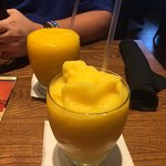 Mango and Passion fruit Frappes