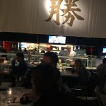 View from our table - sushi bar.