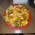 Crispy Chicken Salad except added banana peppers