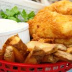 Fish Dinner, Comes With 4 Oz. Breaded Fish Fillet Potato Wedges Salad & Toast Only $9.99