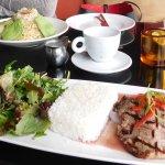 Rib Eye Chow Fun & Crab and Avocado Fried Rice