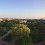 View from the top floor over the White House