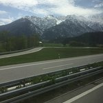 Gym, playroom, Igls views, on the way to Innsbruck by bus, view from plane window of the Alps ju