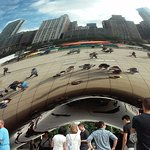 Chicago Skyline and The Bean AND if you look closely...Me & Jeff are inside The Bean