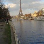 Vue sur la Tour Eiffel depuis l'île