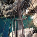 The wired rope bridges
