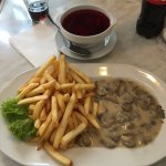 Wild Mushrooms in Cream with French Fries