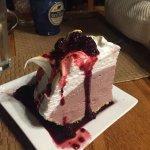 Blackberry ice cream pie (it does taste as good as it looks)