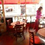 Cafe Retro interior - view towards the street.