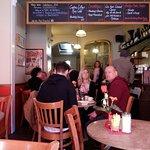 Cafe Retro interior - view towards the back.