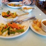 Panang curry with vegetables and soup + salad $8.95..delicious..cannot beat that meal!!