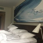 We had a king bed, smaller room (room 382 on third floor of Marina building)