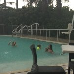 This is a pic of the kids playing in the pool even though it was raining.