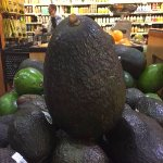 A really large avocado at Queen's Marketplace!