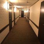 Dorm room inspired hallway!