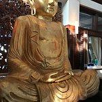 Golden buddha. Fat's Asia Bistro