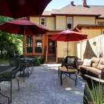 Outdoor space for guests to enjoy