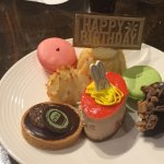 Special dessert for our frinds Birthday. All of these desserts were at the dessert bar too :-)