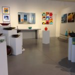 One view of the gallery showing fine art and contemporary craft