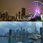 Navy Pier evening and nightime