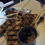 Chicken satay. The Salad is really good too and so are both the dipping sauces (Especially peanu