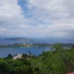 Looking out from one of the zip landings on top of St. Thomas Island.