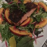 Grilled Atlantic salmon with nectarines - combo??