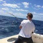 Reeling in the beautiful sailfish