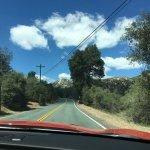 Driving through the Cuyamaca Rancho State Park
