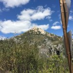 Driving through the Cuyamaca Rancho State Park - the view of Stonewall Mountain