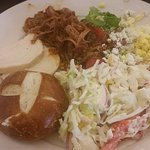 Turkey, pulled pork and sides