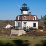 Lighthouse (I believe from Colchester) on grounds at Shelbune Museum - Fall 2016