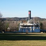 Steamship Ticonderoga on grounds at Shelbune Museum - Fall 2016